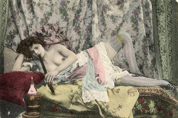 french , nude, opium, smoker, woman, Emily Wharton, Victoria