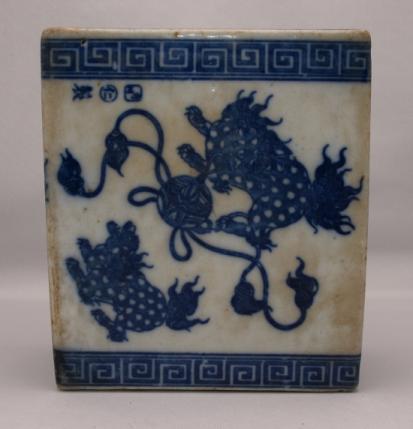 Porcelain Opium Den Pillow #2