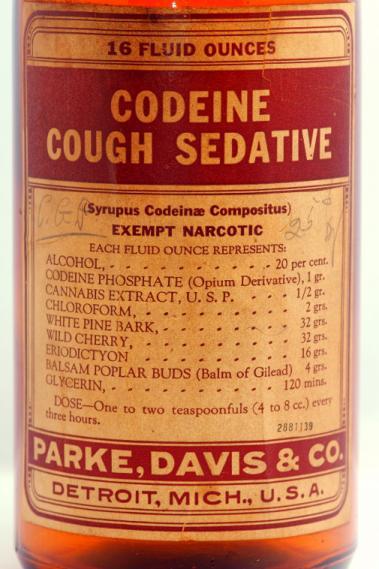 Codeine Cough Sedative (Park, Davis & Co.) Label