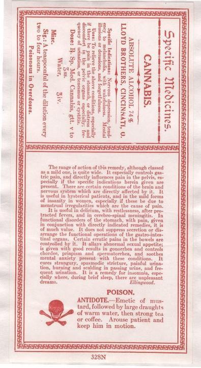 Lloyd Brothers Specific Medicine Cannabis Antidepressant Label.jpg