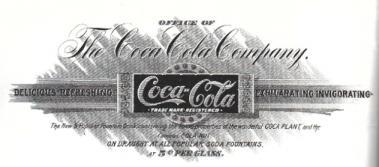 Vintage Coca Cola with Cocaine Advertisement