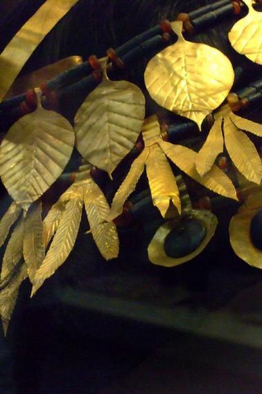 Ur Dynasty Cannabis Gold Headdress