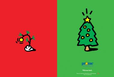 Prozac Christmas Advertisement